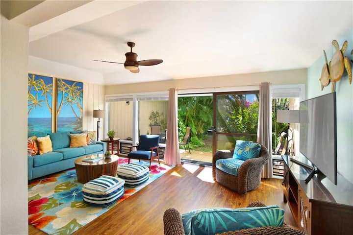 Poipu Ground Floor New Remodel A/C in the Bedroom*Manualoha 502*