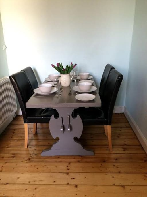 Dining table  seats up to six