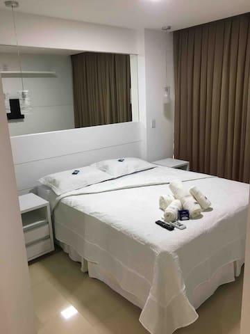 Roupas de cama e toalhas higienizadas