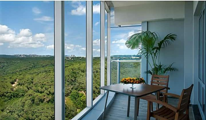 Luxury apartment with view of istanbul islands