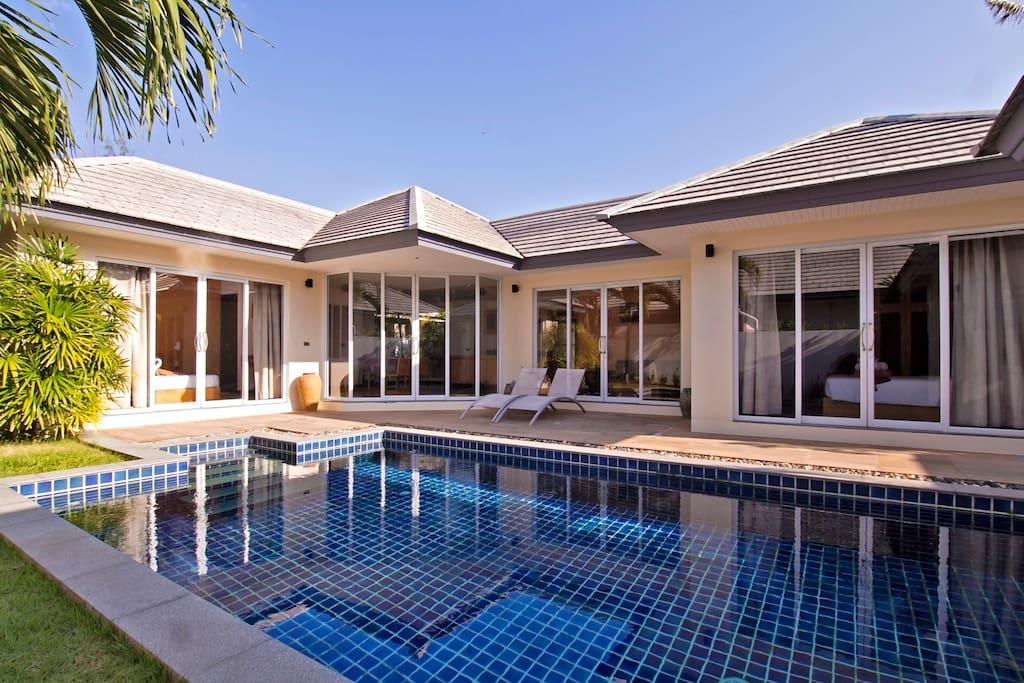 modern villa in calm area 204 villen zur miete in ko samui surat thani thailand. Black Bedroom Furniture Sets. Home Design Ideas