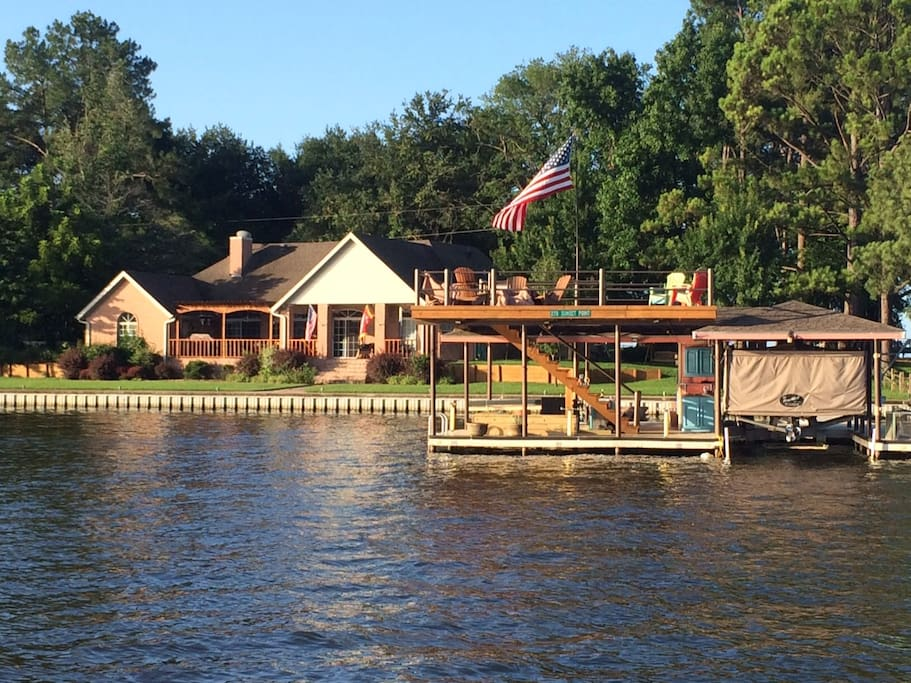 View of the Dock and house from the water
