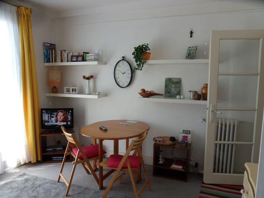 Living-room, view from sofa/bed