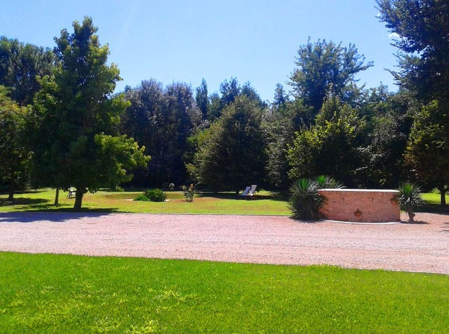Vista parco con zone relax. PARC VIEW WITH RELAX AREA.