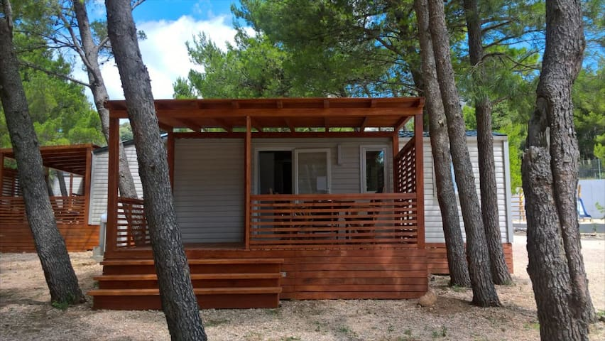 Mobile home in mediterranean forest on the beach 2