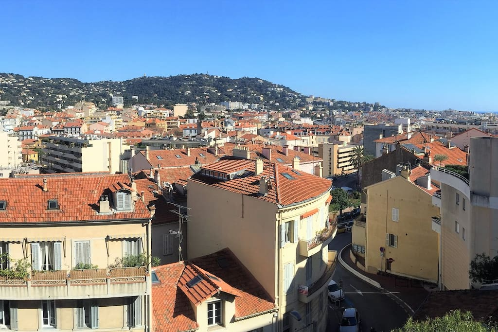 View from the 10²m terrace.