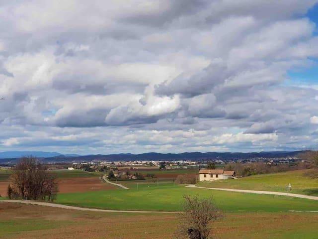 Vue sur Romans sur Isère depuis la chambre