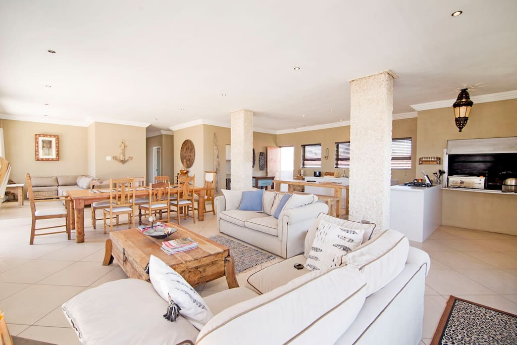 Open plan and spacious living area
