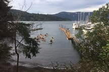 The bay is a great place to explore by land or sea! Rent ocean kayaks next door, enjoy one of the local boat tours and/or the water shuttle to Butchart Gardens!