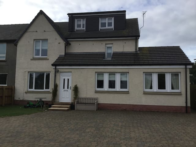 Large home in a village setting near Edinburgh