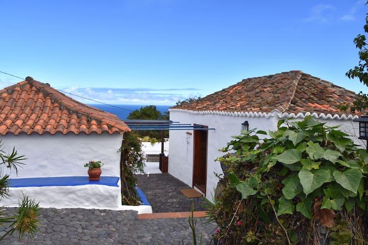 Sitio Abuela, Altkanarische Finca mit Meerblick - Breña Baja - Rumah