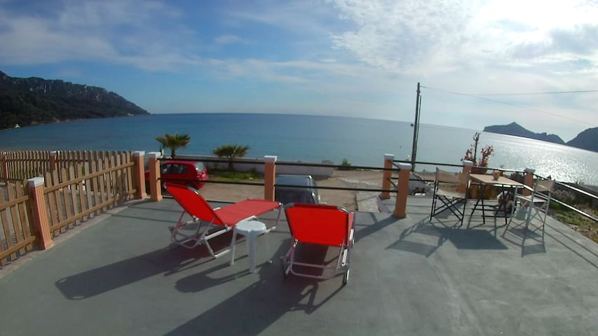 Studio in front of the beach - Agios Georgios Pagon - Apartament