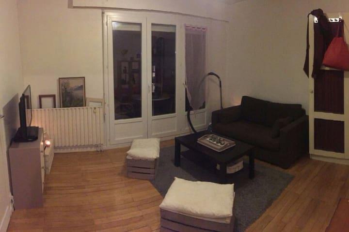 Studio 28m² + 11m² de balcon proche centre ville - Grenoble - Apartment