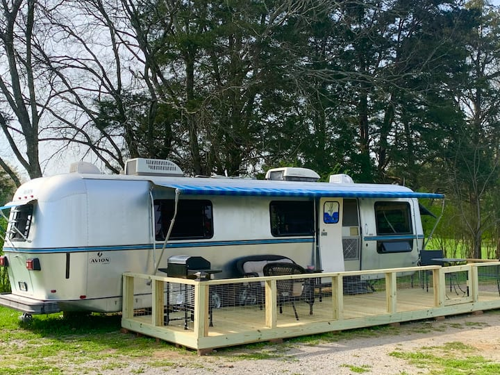 Glamping in the Donkey Park! The Big Avion