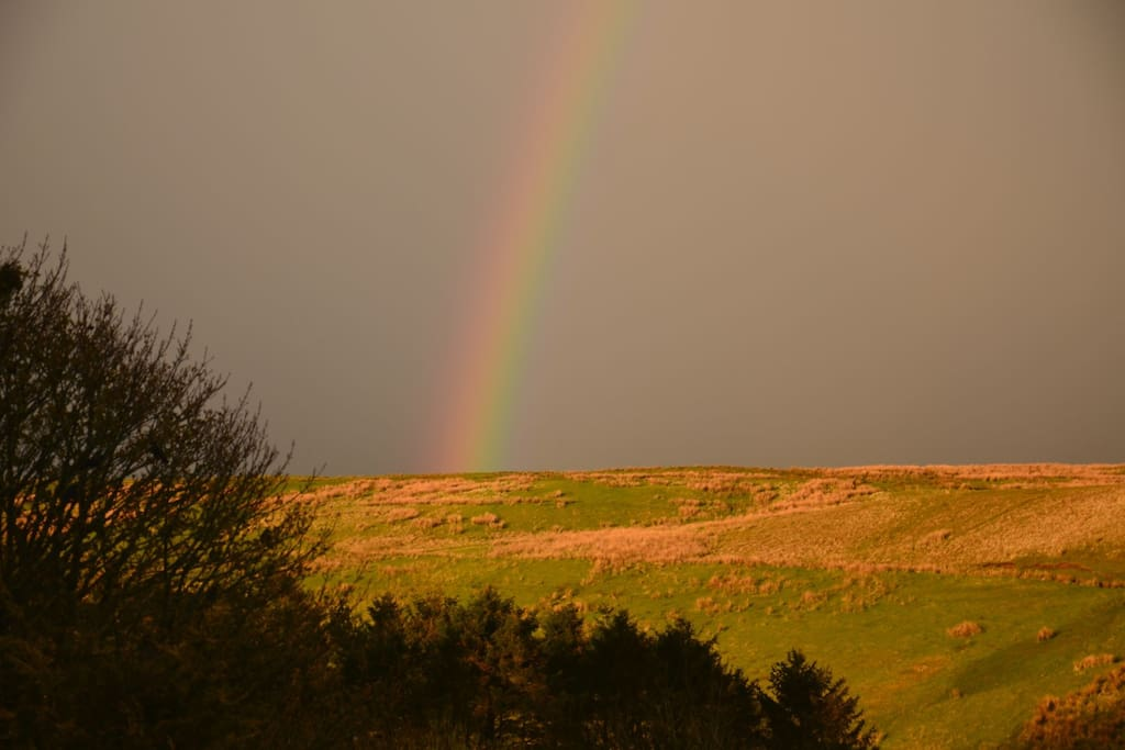 View from the bedroom (rainbow not guaranteed!)