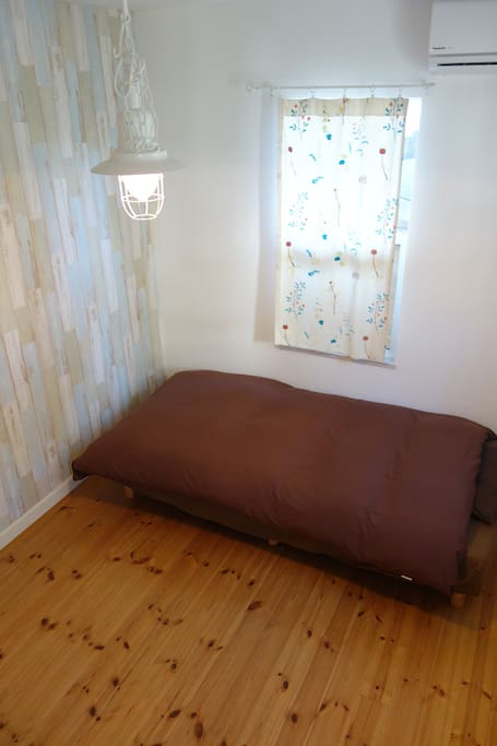 Your room with single bed and futon