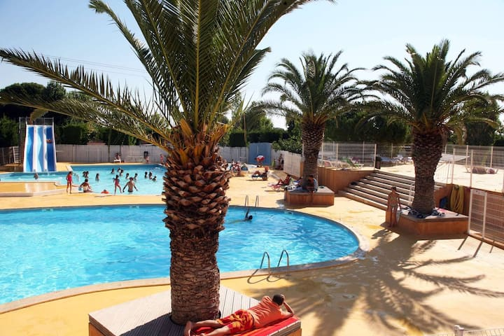 Mobil-Home**** 3ch 6pers Terrasse Frontignan-Plage