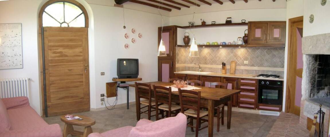 Il soggiorno e la cucina 1