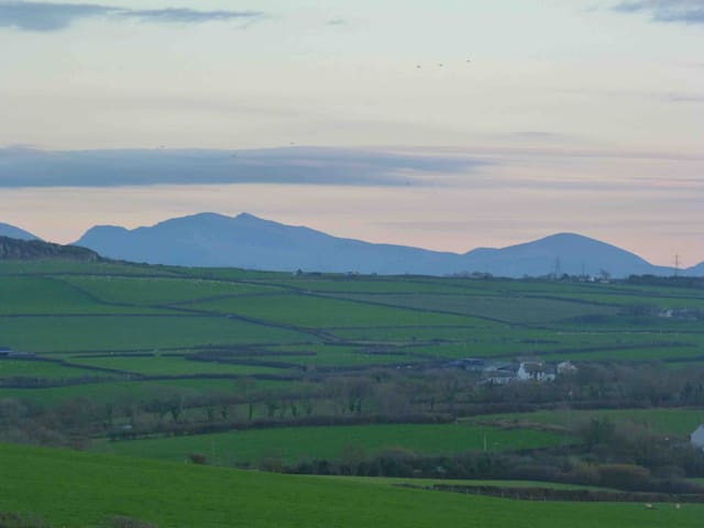 Views of the Snowdonia Range from the balcony