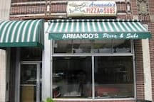Armando's Pizza just 5 min walk away - one of the best pizza places in Cambridge