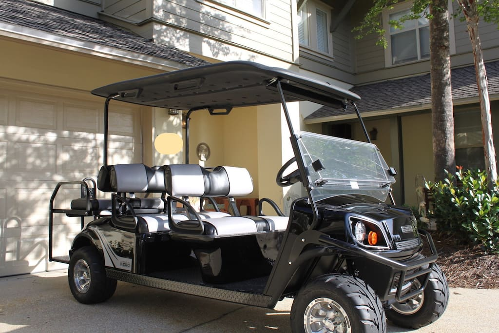 Brand new 6 passenger golf cart included for your use during your stay!