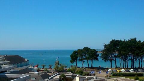 Bénodet superbe studio en résidence vue mer, plage
