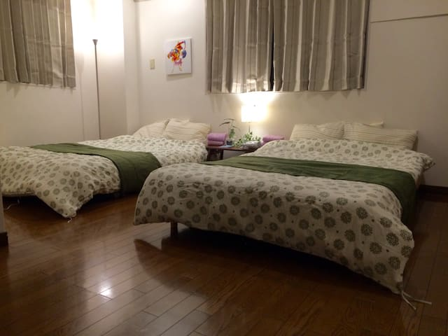 4) 1min NAMBAst CHARTERED 6pax WIFI - Osaka - Appartement