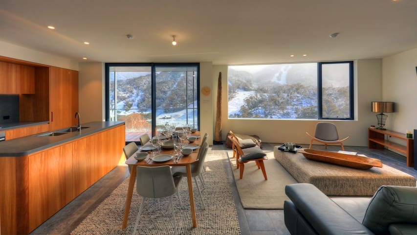 New Scandi style apartment in the heart of Thredbo
