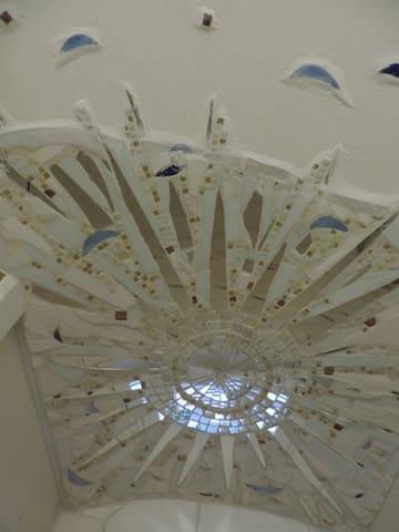 Plafond in der Dusche, ceiling in the shower