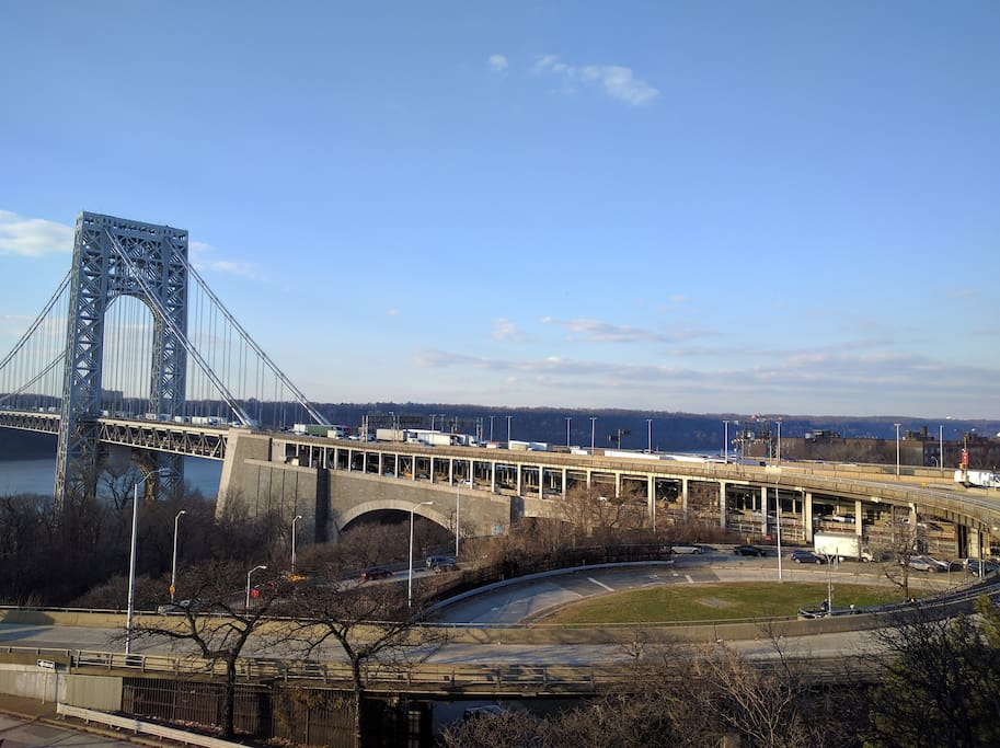 Gorgeous view of the George Washington Bridge from the bedroom window!