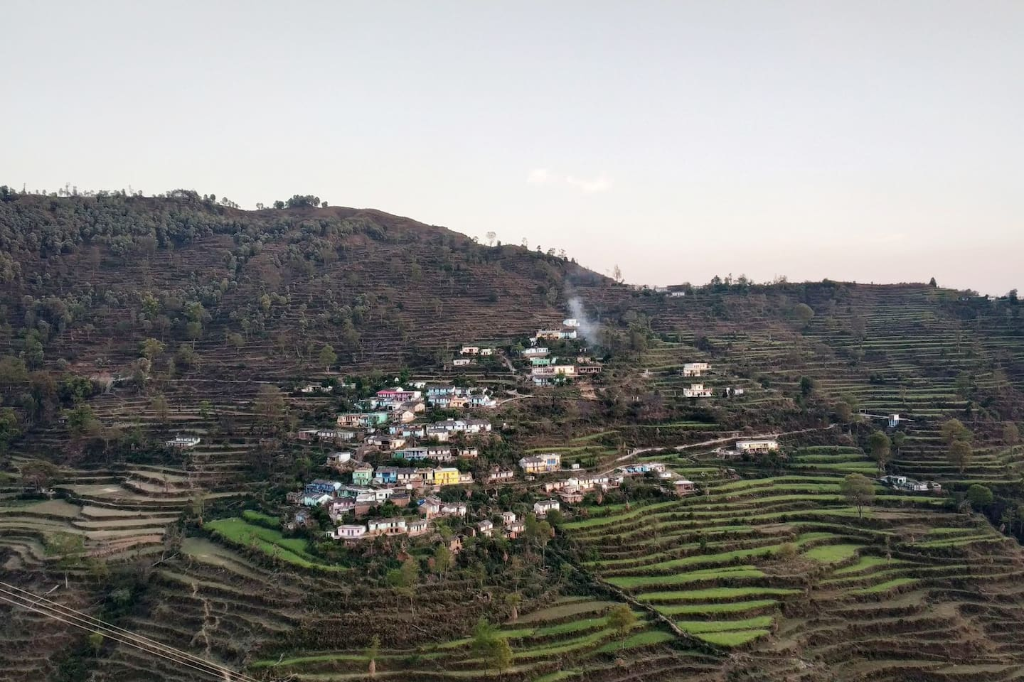 Village Isoti as seen from opposing feature and Village Galha.