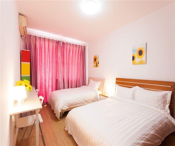 小米公寓JG1-国贸地铁精装品质双床房 - Beijing - Apartment