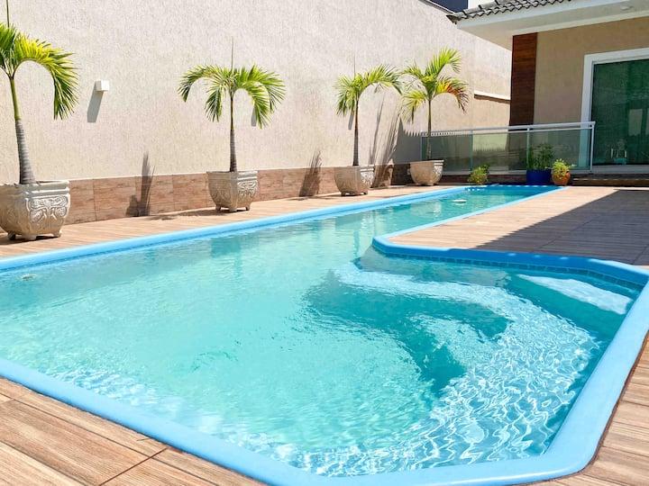 Casa Maravilhosa com piscina lazer e gramado