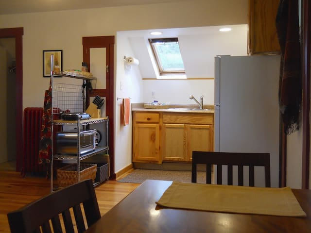 Kitchen stocked for preparation of your favorite traveling meals