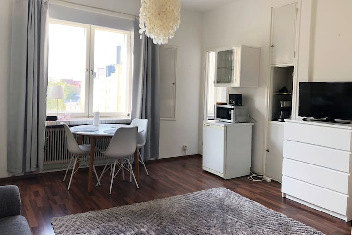 Beautiful studio with a city view in Kallio