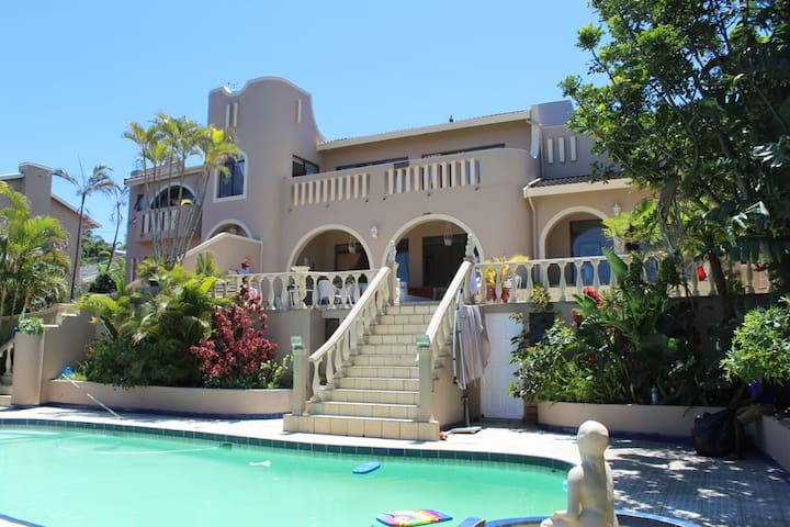 elegant beach house with charming detail in la lucia - Big Mansions With Pools On The Beach