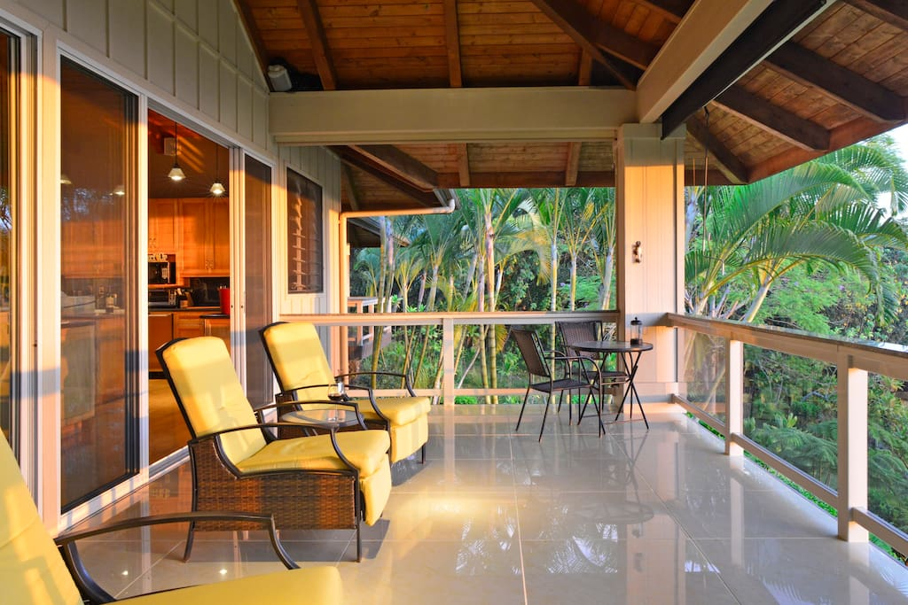 Upper Lanai, perfect place to relax and to take in beauty of Kona coast