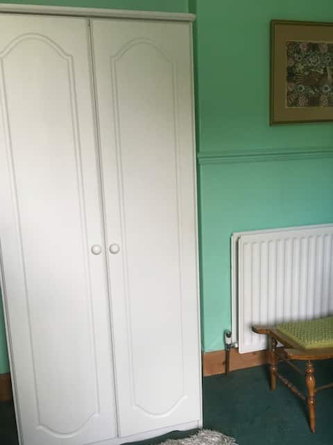 Double room above the market town of Penrith.