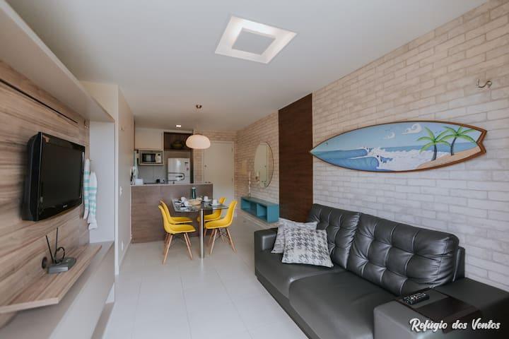 Excelente Apto Condomínio VG SUN em Frente à Praia