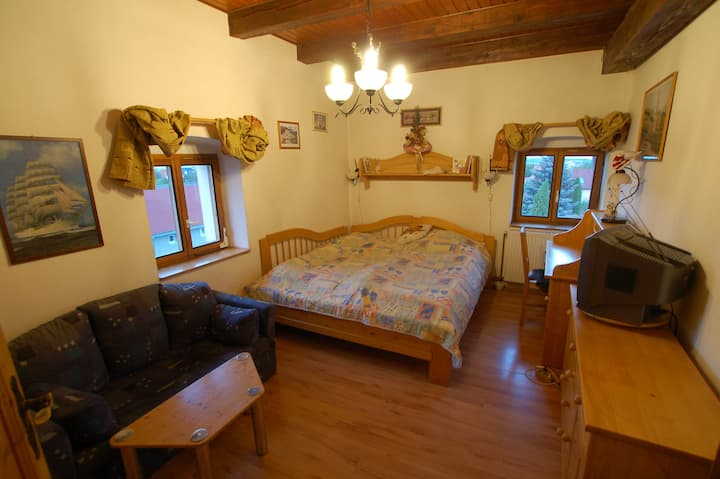 Accommodation in historical granary Častá