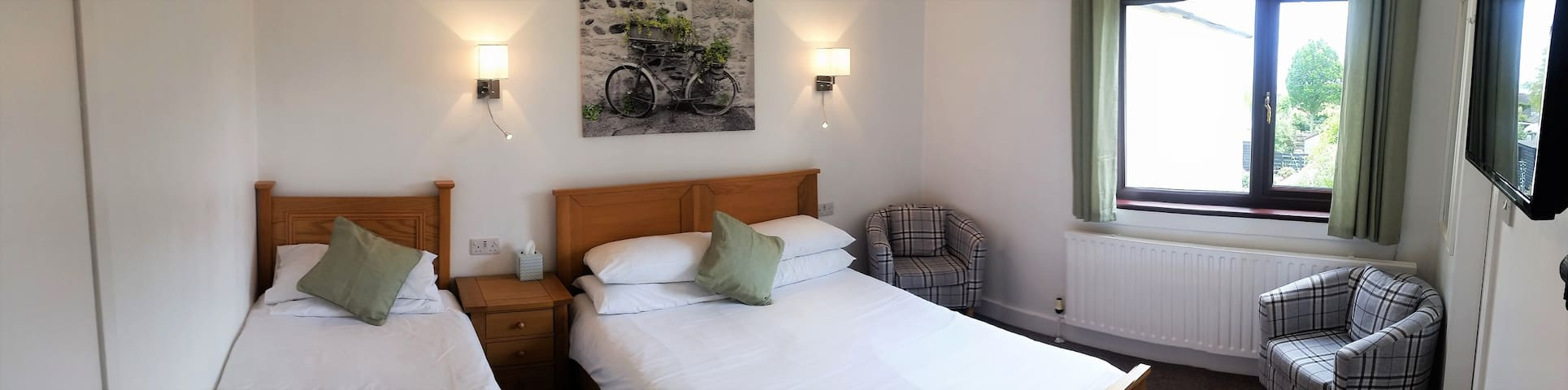 Triple Room, Dog Friendly Above Book Cafe Wigtown