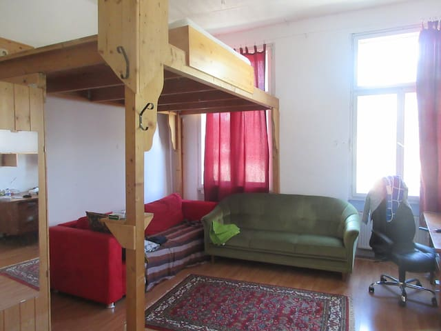 Large and supercentral room;10 min to city center