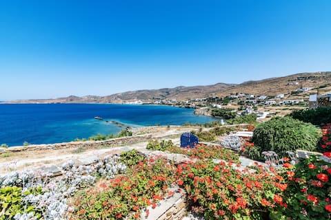 Casa à beira-mar em Tinos - C Ꙭ Baía de Stavros