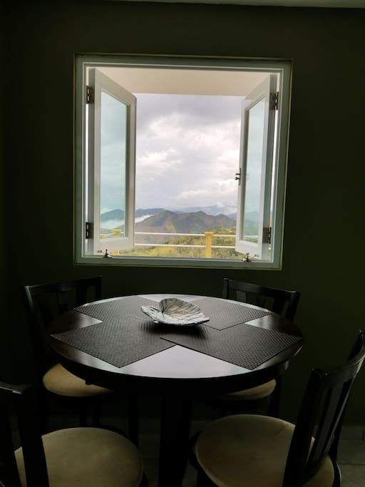 View from the guest room dining  table.