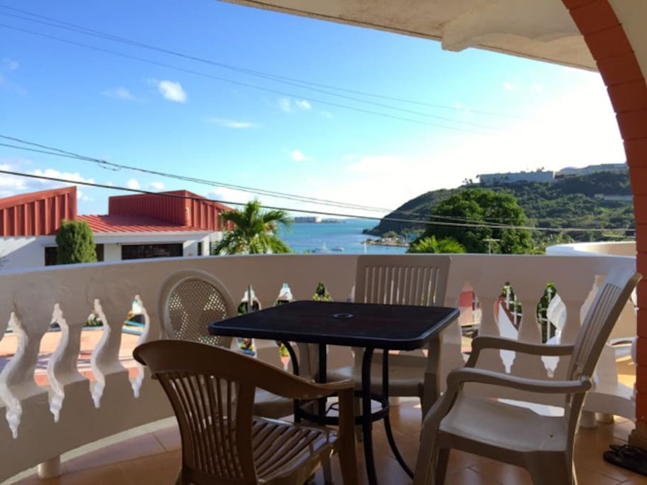 Breezy Caribbean House with Sea Views, Spanish Balconies with outdoor dining al fresco