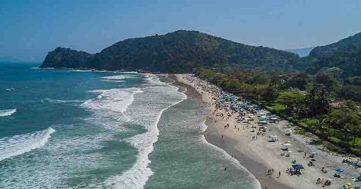 Suite privativa hospeda até 5 pessoas 80mts praia