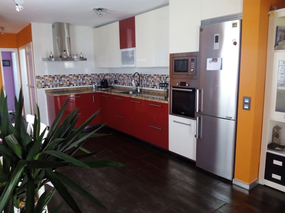 Opened  kitchen