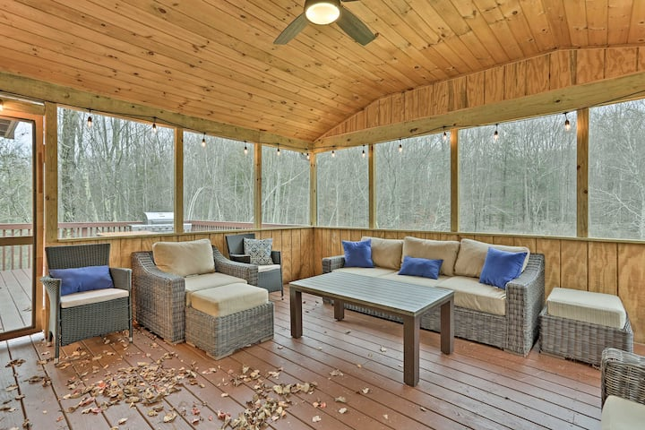 NEW! Pocono Mountain Retreat w/ Deck & Pool Access
