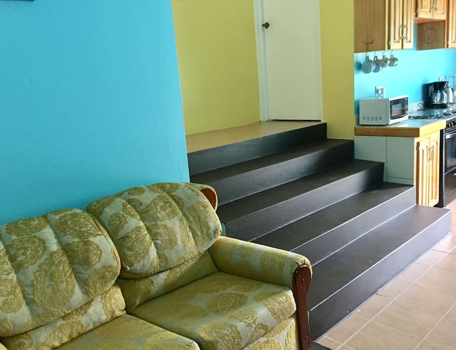 Stairway to bedroom from common area
