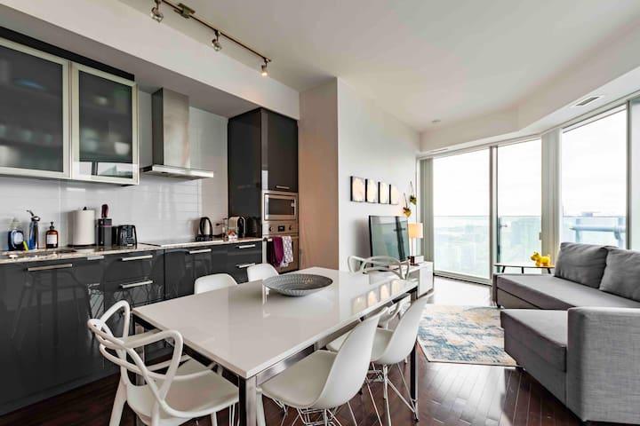 Modern Luxury Corner Suite with Panoramic Views
